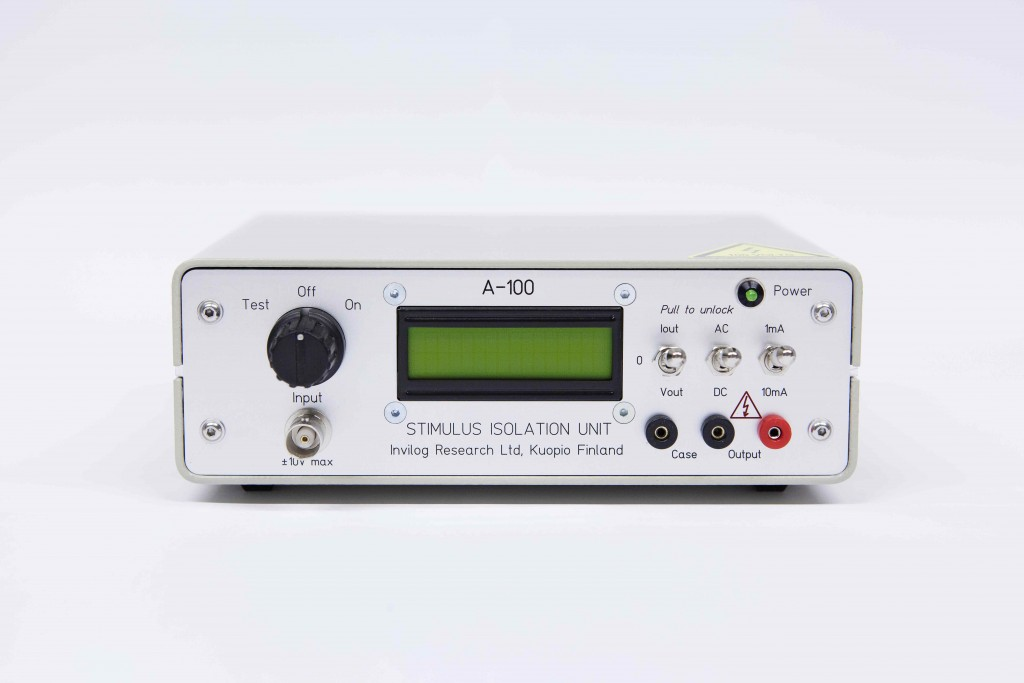 Low Noise Battery Operated Current stabilized Stimulus Isolation Unit (SIU A100).