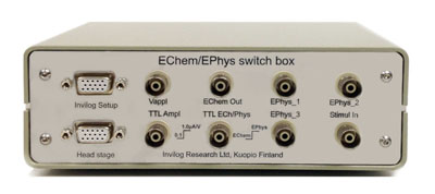Switch box for adding in vivo voltammetry to the existing neurophysiological setup